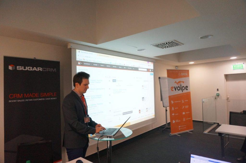 Piotr Rawski (eVolpe) prezentuje narzędzie Process Author wprowadzone w jednej z ostatnich odsłon systemu SugarCRM