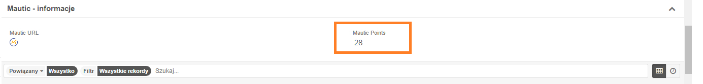 Mautic Points in SugarCRM