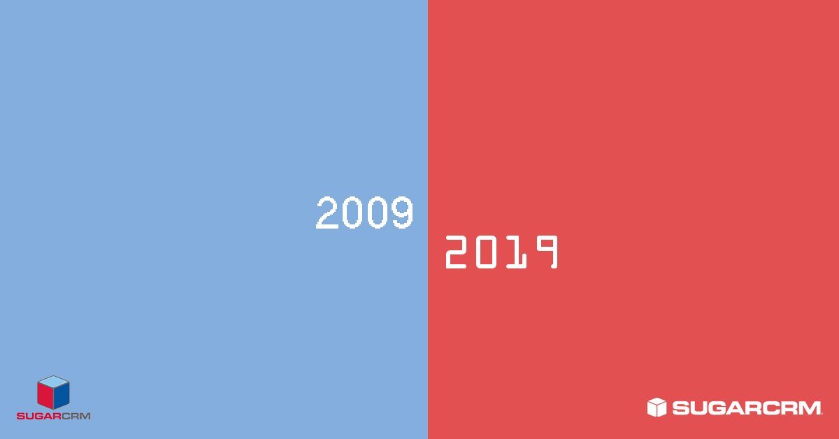 sugarcrm 10yearchallenge