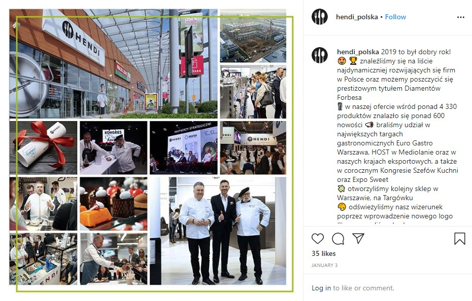 Hendi Instagram post